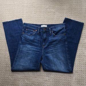 "Madewell 10"" High Riser Demi Boot Denim Jeans"